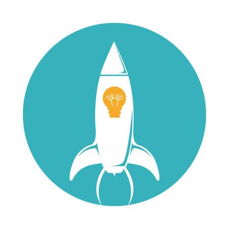 rocket ship: Rocket design over white background