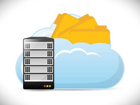 database concept: Database design over white background
