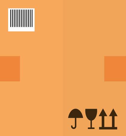 package design: Delivery design over package background Illustration