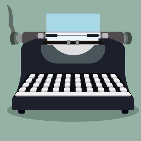 m�quina de escribir vieja: Dise�o retro sobre fondo blanco, ilustraci�n vectorial.