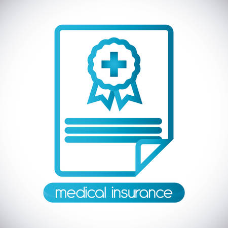 Medical insurance design over white background, vector illustration.