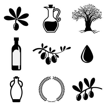 aceite de cocina: Dise�o Aceite de oliva sobre fondo blanco, ilustraci�n vectorial.