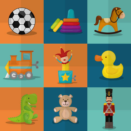 toys: Baby toys design over colorful background, vector illustration.
