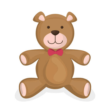 cute bear: Baby toys design over white background, vector illustration.