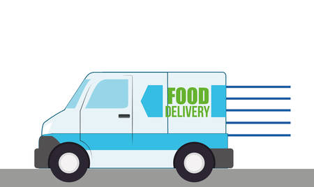 Free delivery design over white background, vector illustration Vector