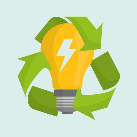 safe world: Energy design over green background, vector illustration.