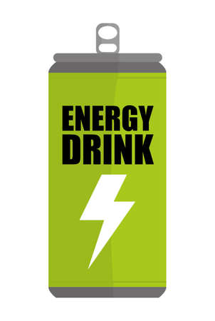 carbonated: Energy design over white background, vector illustration. Illustration