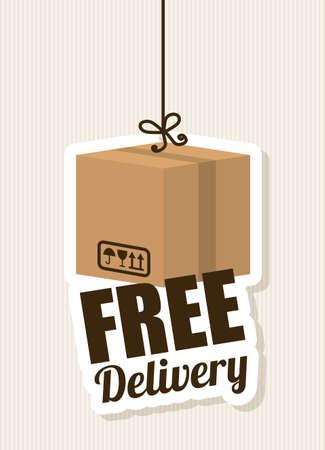 free: Delivery design over beige background, vector illustration.