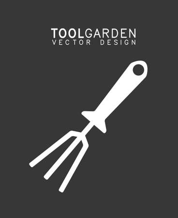 raking: Gardening design over grey background, vector illustration