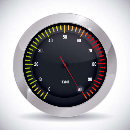 km: Speed design over white background, vector illustration.