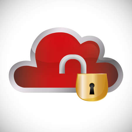 security system design over white background, vector illustration