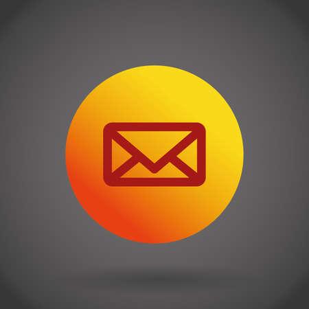 envelope design: envelope design over grey background, vector illustration