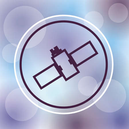 orbital station: satellite design over purple background, vector illustration