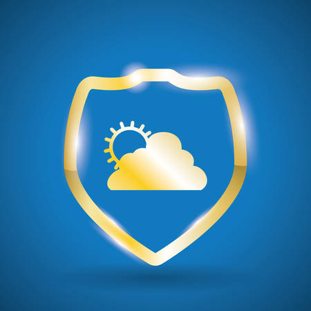 wather: weatherdesign over blue background, vector illustration Illustration