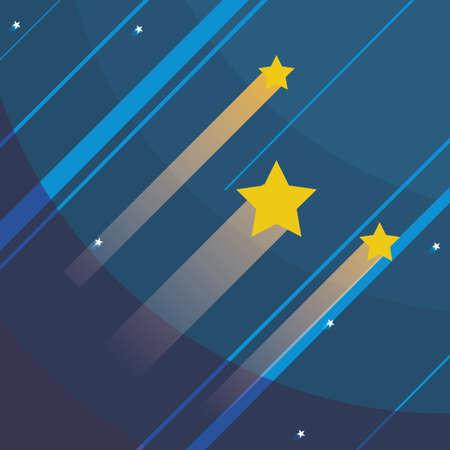 colonization: stars design over space background, vector illustration Illustration