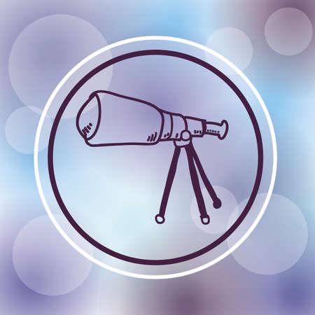 night vision: telescope design over purple background, vector illustration Illustration