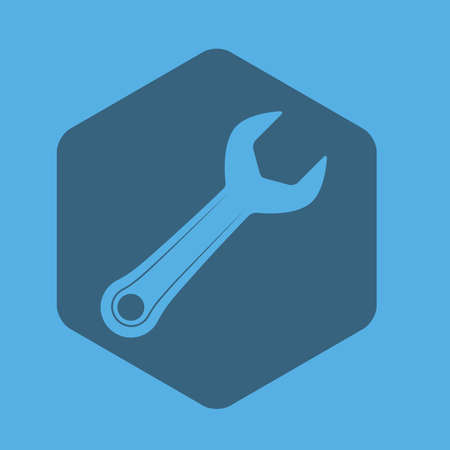 hexagone: Tools design over blue background, vector illustration