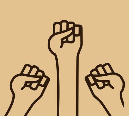 hand sign: Hand sign design over beige background, vector illustration Illustration
