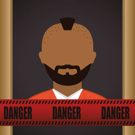 burglary: justice icon design over grey background, vector illustration