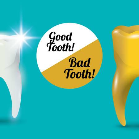 bad service: dental care design over blue background, vector illustration Illustration