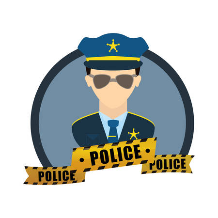 constable: justice icon design over white background, vector illustration