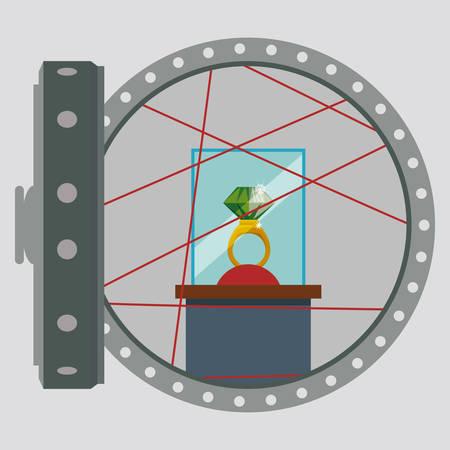 strongbox: Strongbox design over white background, vector illustration.