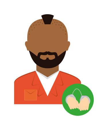 murderer: justice icon design over white background, vector illustration