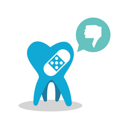 dental care design over white background, vector illustration Illustration