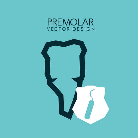 premolar: dental care design over blue background, vector illustration Illustration