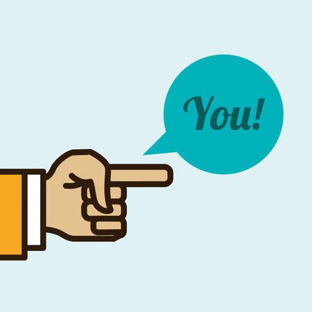 using senses: Hand sign design over white background, vector illustration