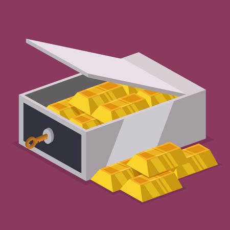 strongbox: Strongbox design over purple background, vector illustration.