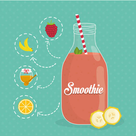 smoothie: Smoothies digital design, vector illustration eps 10.