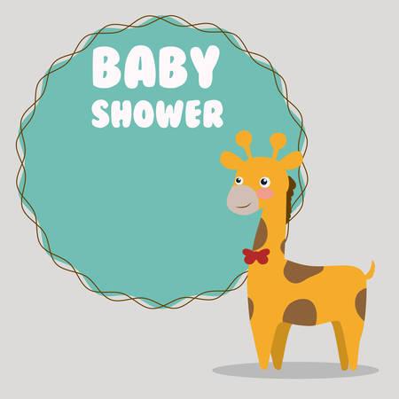 invite congratulate: Baby shower colorful card design, vector illustration.