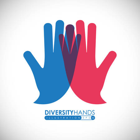 hand sign: Hand teken ontwerp op een witte achtergrond, vector illustratie Stock Illustratie