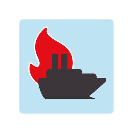 sea disaster: Insurance design over white background, vector illustration Illustration
