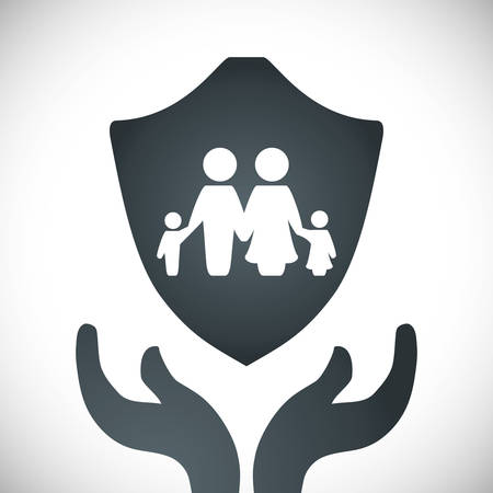 family policy: Insurance design over white background, vector illustration Illustration