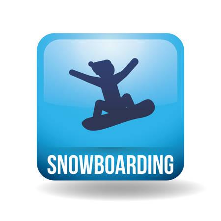 Snowboarding design over white background, vector illustration Illustration
