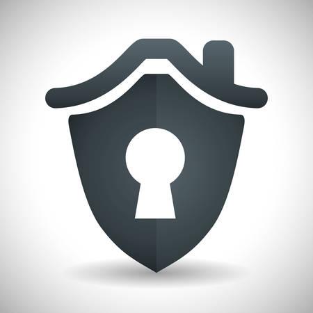 dangerous ideas: Insurance design over white background, vector illustration Illustration