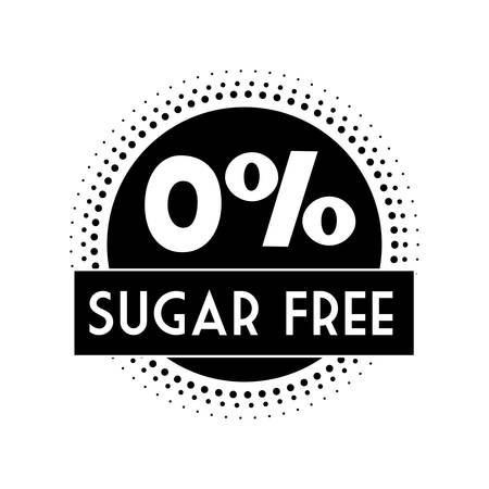 diabetes food: Sugar free design over white background, vector illustration