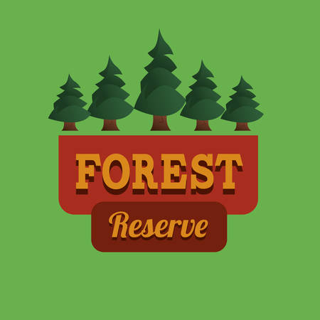 retro icon: Tree design over green background, vector illustration