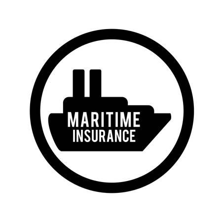 maritime accident: Insurance design over white background, vector illustration Illustration