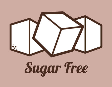 sugar cubes: Sugar free design over purple background, vector illustration