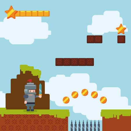 Video games digital design, vector illustration 10 eps graphic