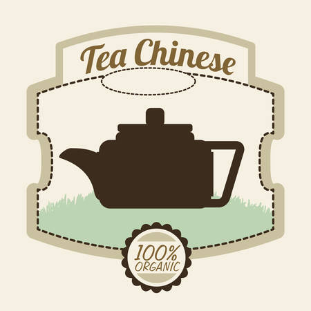 la hora del te: Tea time digital design, vector illustration 10 eps graphic Vectores