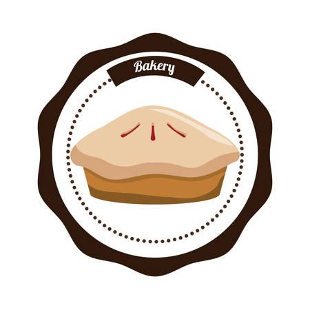 甘い食べ物: 白背景、ベクトル図に甘い食べ物デザイン