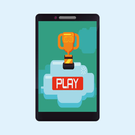 playing video game: Video games digital design, vector illustration 10 eps graphic