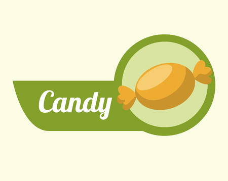 tempting: Sweet food design over white background, vector illustration