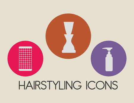 Conception numérique Salon de coiffure, illustration vectorielle eps 10.