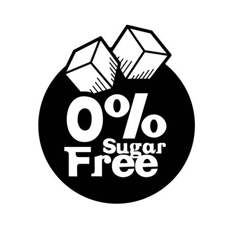 sugar: Sugar free design over white background, vector illustration