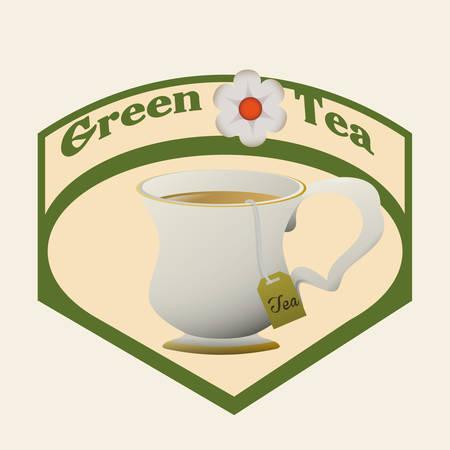 tea time: Tea time digital design, vector illustration 10 eps graphic Illustration